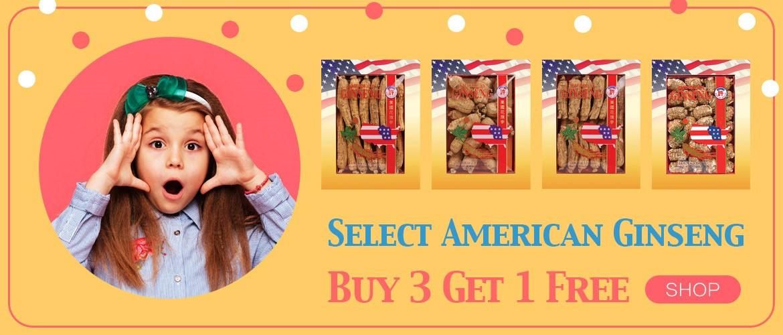 Promotion Select American Ginseng 3+1 Bundle