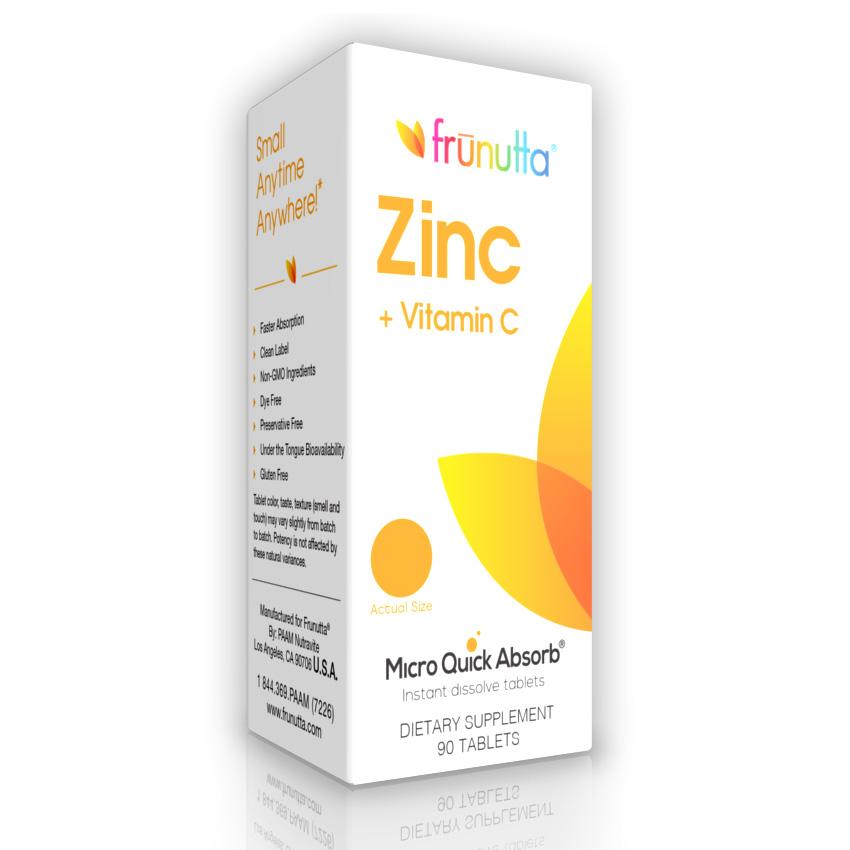 Frunutta Zinc Vitamin C Sublingual Functional Products Supplements